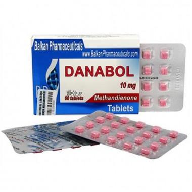 Danabol Данабол Метандиенон Метан 10 мг, 100 таблеток, Balkan Pharmaceuticals в Актобе