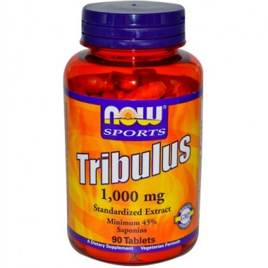Tribulus Трибулус 1000 мг, 90 таблеток, Now Sports в Актобе